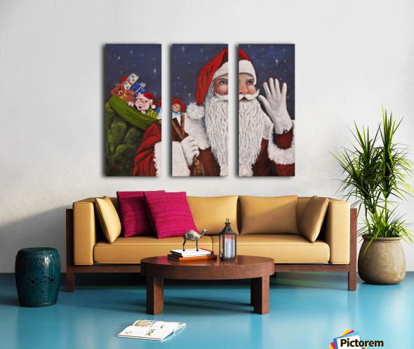 Merry Christmas To All Split Canvas print