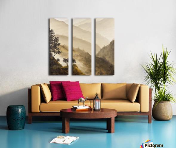Misty Hills Split Canvas print