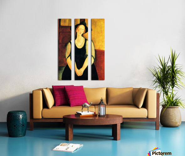 Modigliani - Portrait of Thora Klinckowstroem Split Canvas print