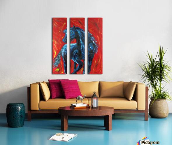 red horse Split Canvas print