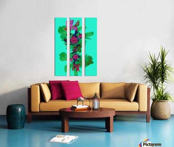 Floral Collage Split Canvas print