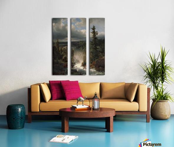 Landscape with a creek Split Canvas print