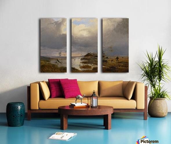 Skandinavische Landschaft Split Canvas print