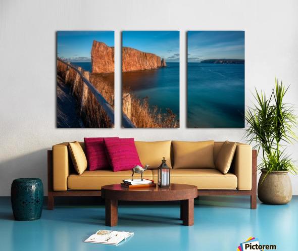 Lumiere sur le Rocher Perce Split Canvas print