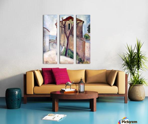 Modigliani - Tree and House Split Canvas print