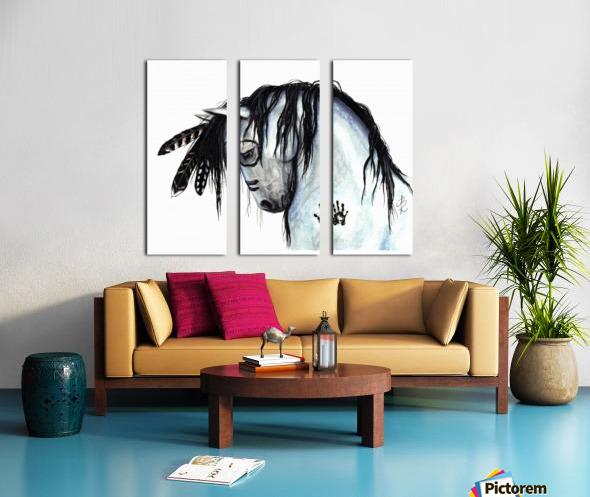 Grey Horse Split Canvas print