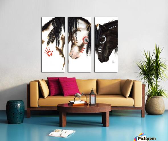 Majestic Spirit Horses Split Canvas print