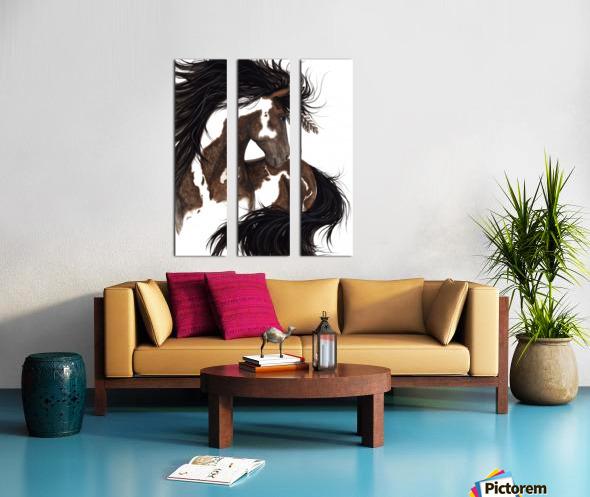 Pinto Horse Split Canvas print