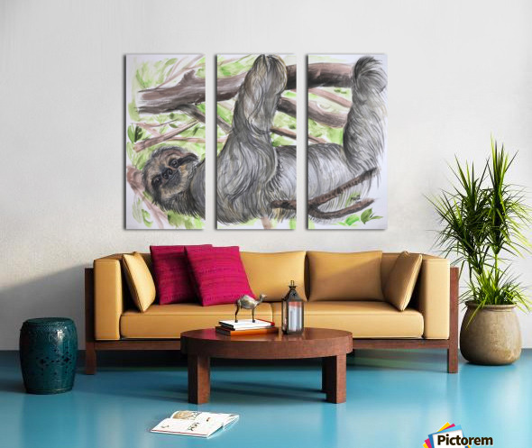 Collection COSTA RICA-Sloth Toile Multi-Panneaux