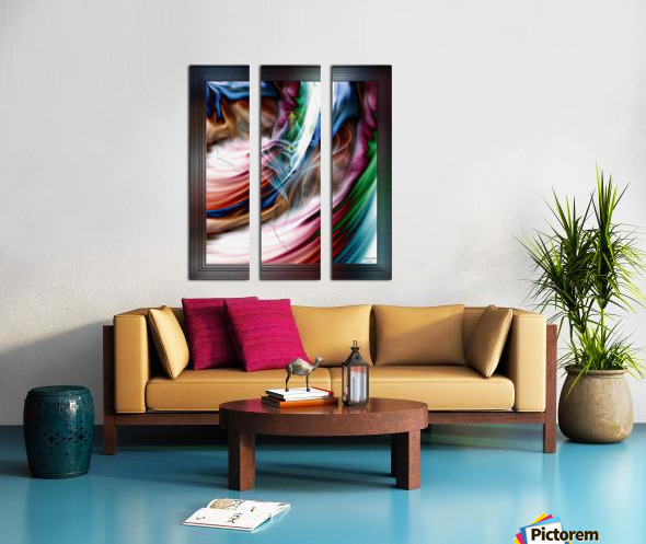 Whispers In A Dreams Of Beauty Fractal Abstract Portrait Art Split Canvas print