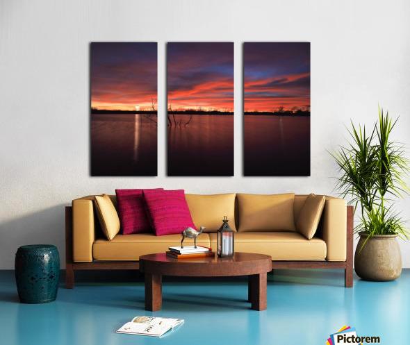 Wellington City Lake Sunset Split Canvas print