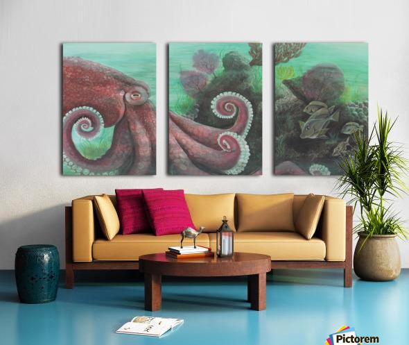 Collection WAVES-Octopus Toile Multi-Panneaux