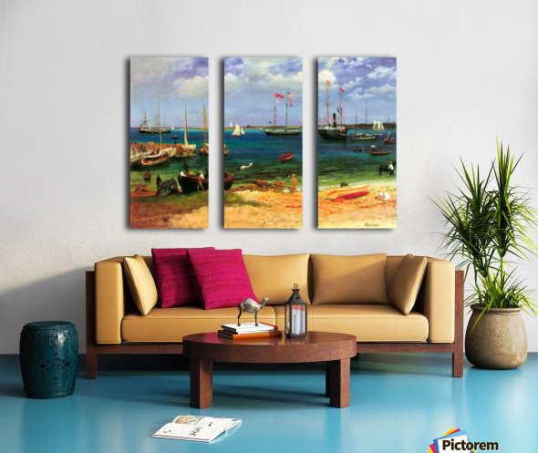 Nassau port by Bierstadt Split Canvas print