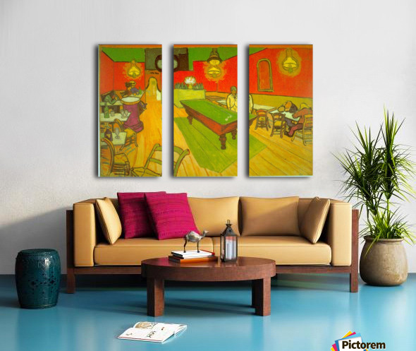 Night Cafe by Van Gogh Split Canvas print