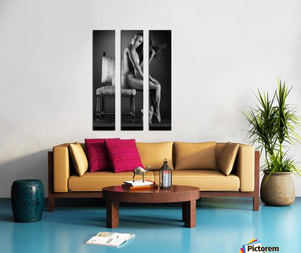 Naked_woman_young_nude_bodyscape Split Canvas print