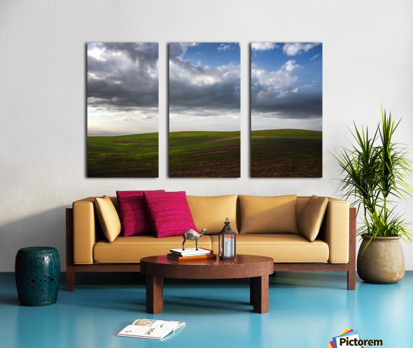 Fields and clouds Split Canvas print