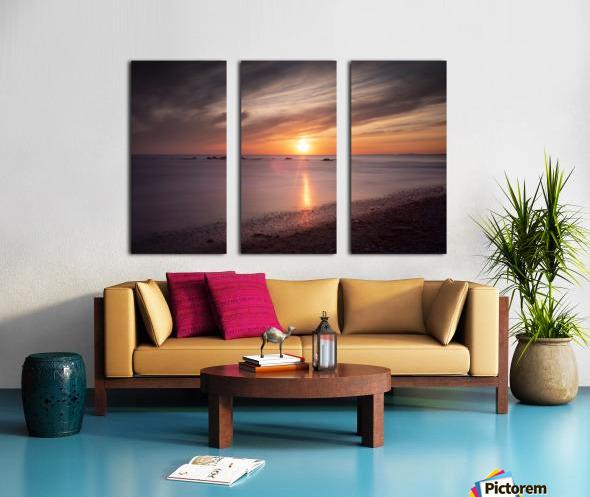 Sker Beach sunset Split Canvas print