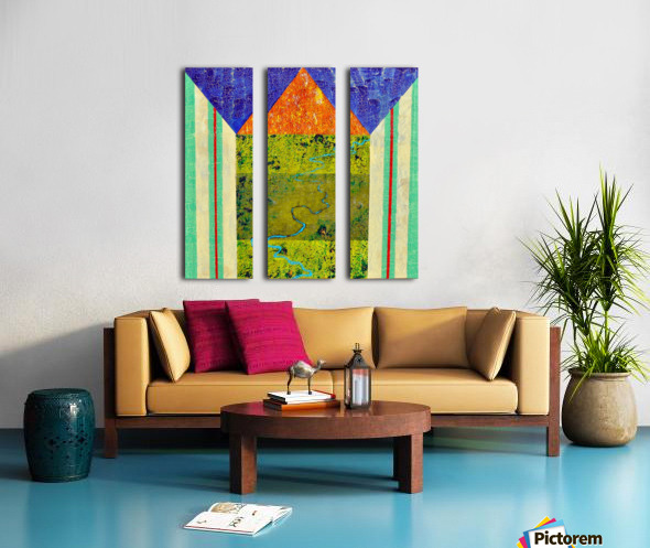 Blue Vein Split Canvas print