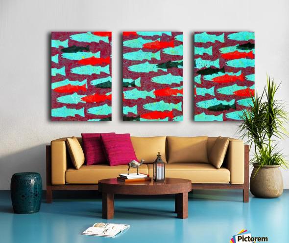 Critical Mass Split Canvas print