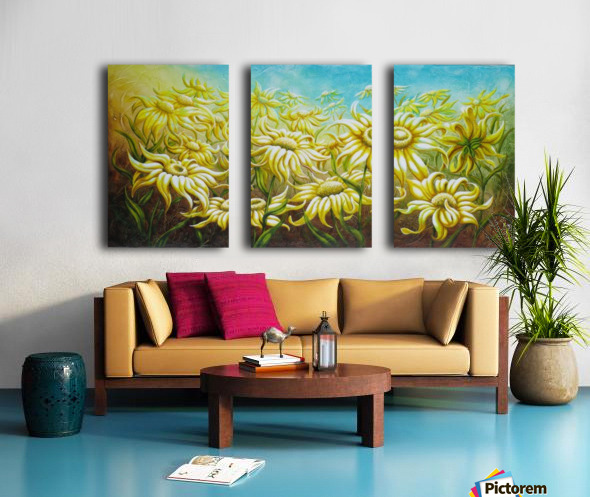 Splash of summer Split Canvas print