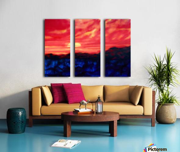 Fire Sunset Split Canvas print