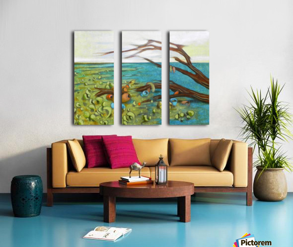 landscape with garbage Split Canvas print