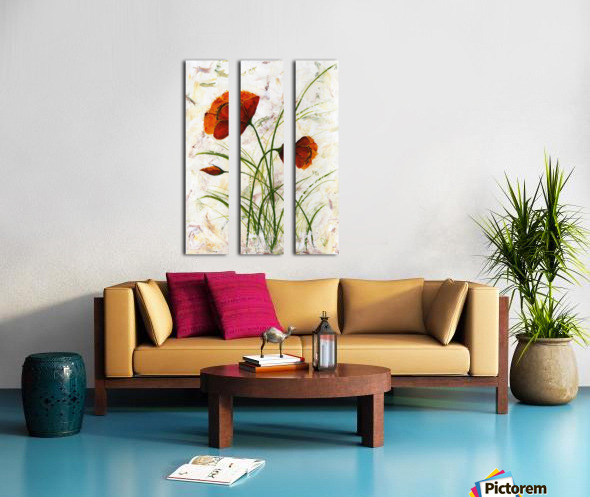 Red poppies 004 Edit Voros  Split Canvas print