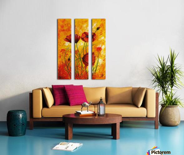 Red Poppies 006 Split Canvas print