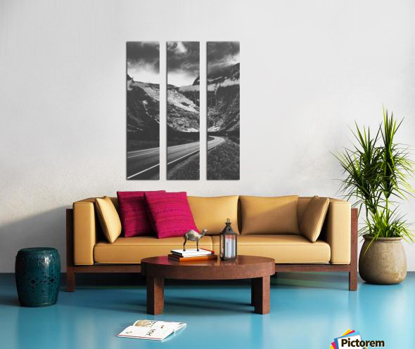 Into the wall of ice Split Canvas print