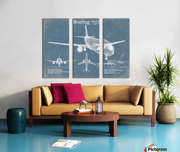 737 Split Canvas print