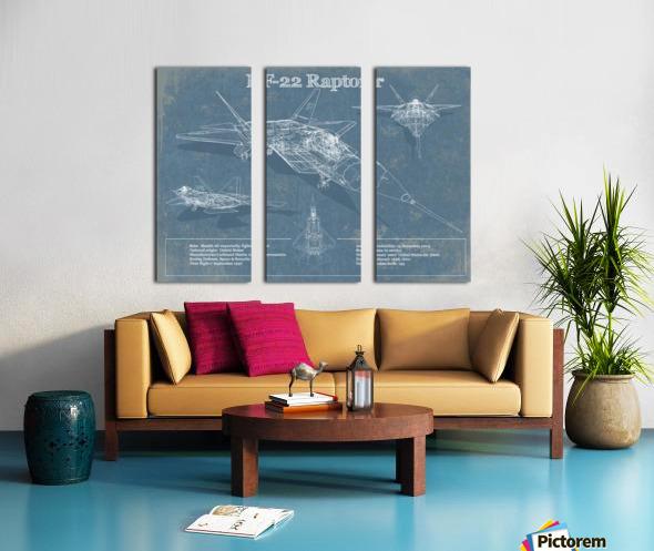 f 22 Split Canvas print