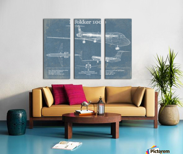 fokker Split Canvas print