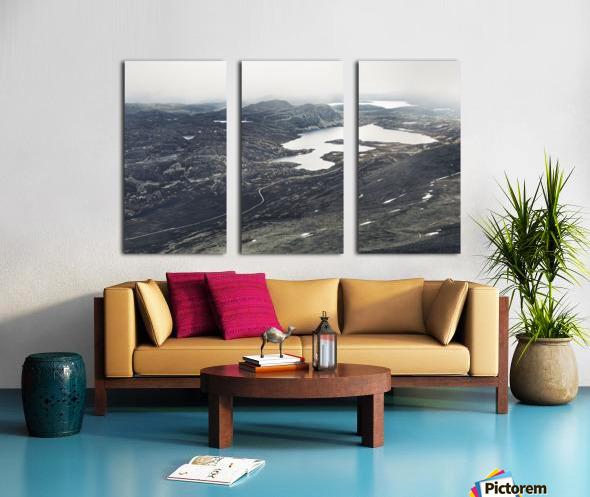 Lake stain Split Canvas print