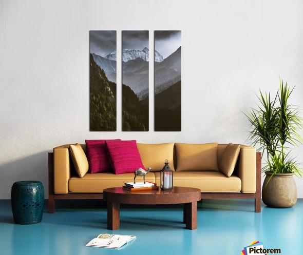 Between the trees Split Canvas print