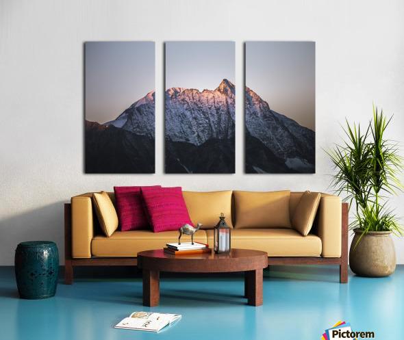Awakening of the mountain Split Canvas print