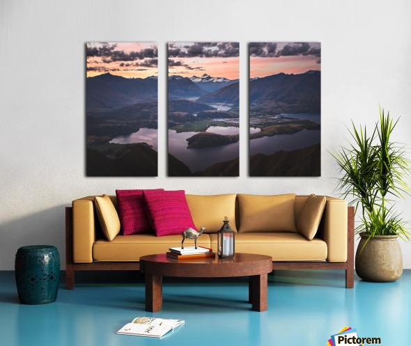 Tititea Mount Aspiring Split Canvas print