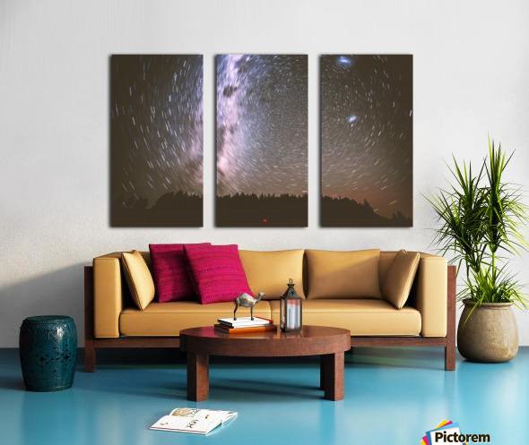 Spin of stars Split Canvas print
