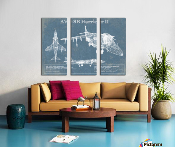 harrierII Split Canvas print