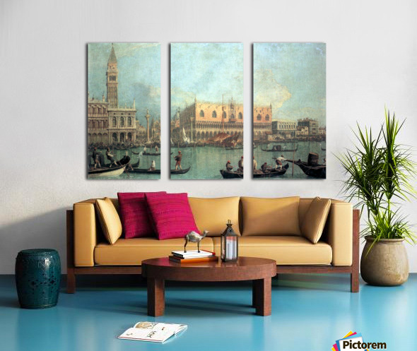 Palazzo Ducale by Canaletto Split Canvas print