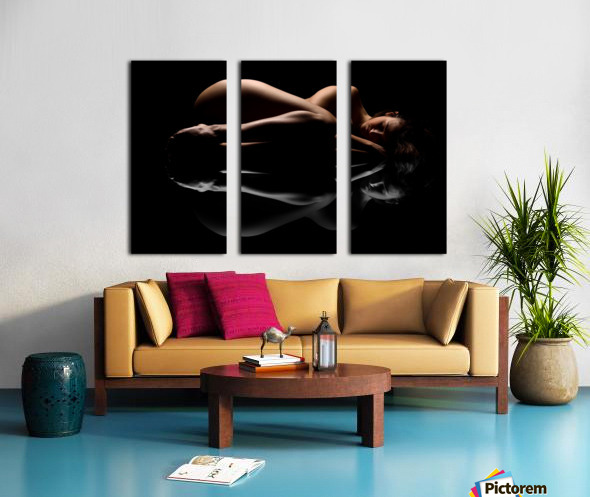 nude_woman_fine_art_laying_down_naked Split Canvas print