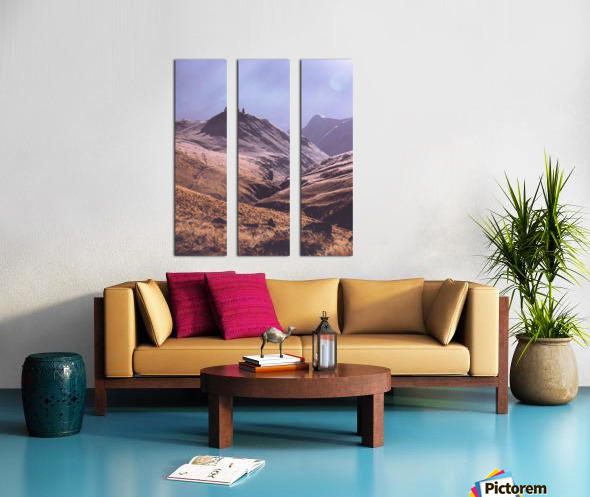 Gergeti in moring sunlight. Split Canvas print