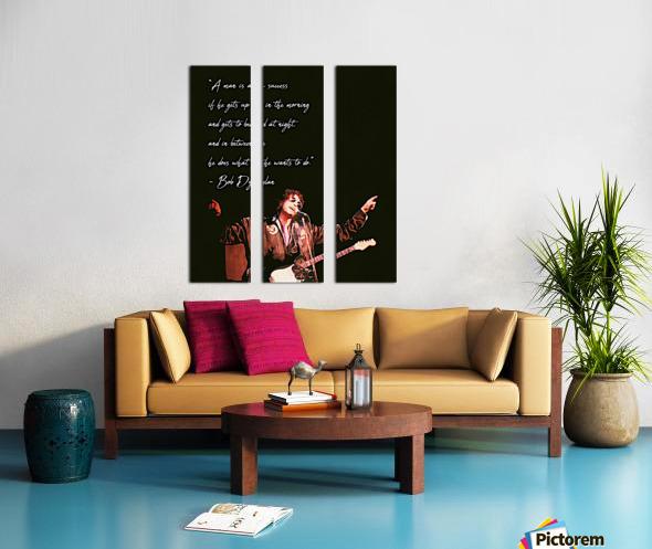 Bob Dylan Split Canvas print