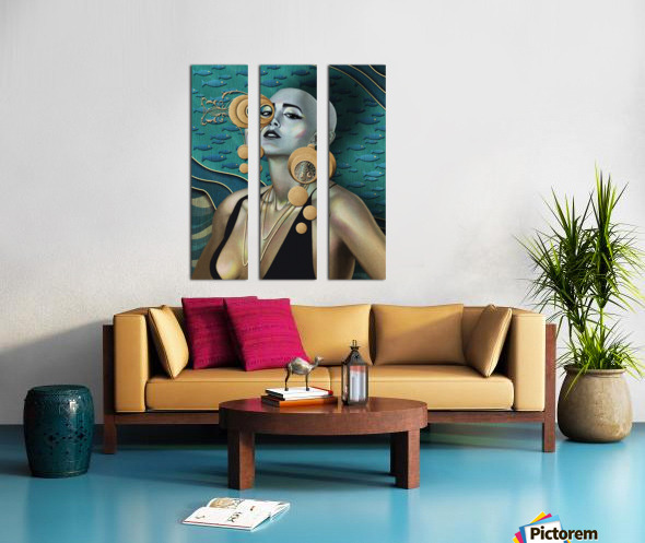Gold Kind Of Girl Split Canvas print