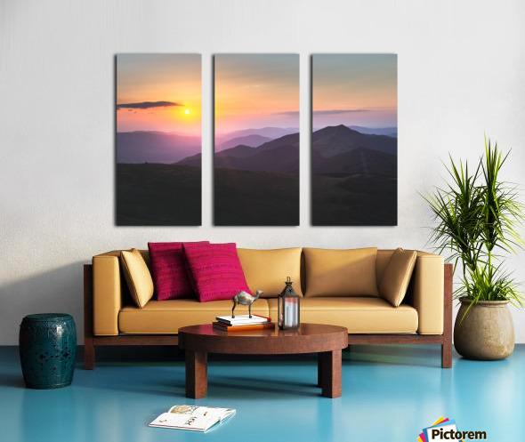 Pink sunset Split Canvas print
