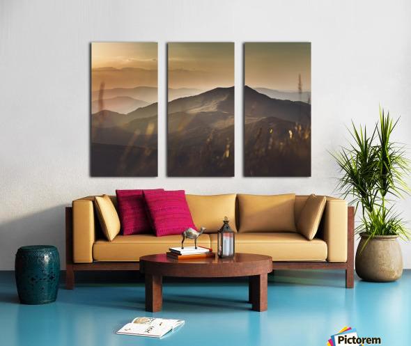 Yellow hills Split Canvas print