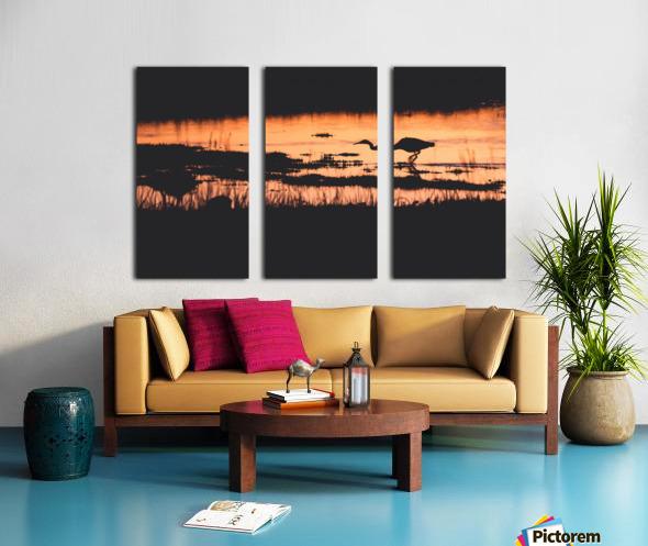 Heron hunt Split Canvas print