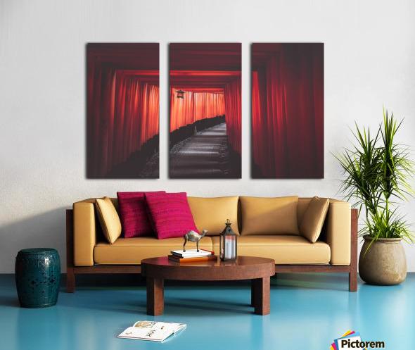 Fushimi red Split Canvas print