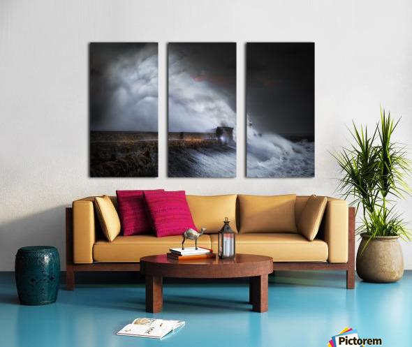 Hurricane Ophelia at Porthcawl Split Canvas print