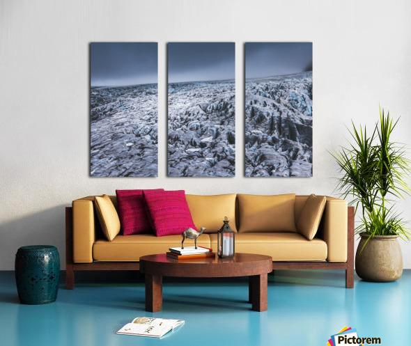 Field of ice Split Canvas print