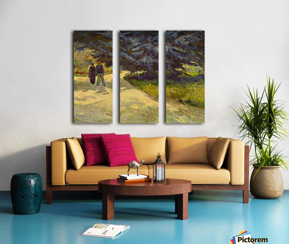 Park Arles by Van Gogh Split Canvas print
